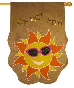 Burlap Sequined Hot Sun Decorative House Flag