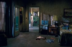 In my mind, Gregory Crewdson is an Edward Hopper painting, made more realistic and frozen on film. Gregory Crewdson was born in 1962 in Brooklyn, NY. Edward Hopper, Narrative Photography, Cinematic Photography, Art Photography, Creepy Photography, Diane Arbus, Magritte, Gregory Crewdson Photography, Small Town America