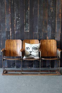 Three seater theatre bench.