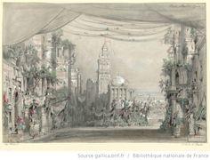[L'étoile de Messine : esquisse de décor de l'acte II, tableau 3. / Hugues Martin] - 1861