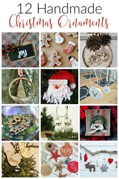 It's day 8 of our 12 Days of Christmas 2016 Blog Hop and we've got 12 Handmade Christmas Ornaments to help you get your craft on this season!