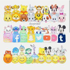 Disney Emojis & Réseaux Sociaux Draw