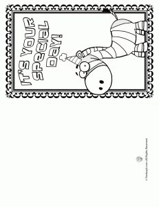 printable birthday cards - Free Printable Birthday Cards For Kids To Color