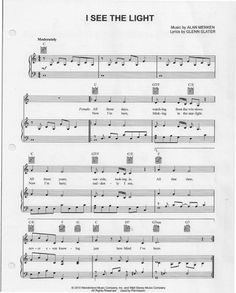 I See the Light (Tangled Piano Sheets) | Scribd