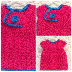 Crocheted Baby Dress Pinafore 0  3 Month Size Infant by RaeOfLight, $18.00