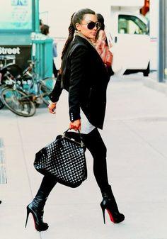 Chanel Bag  and Louboutin Booties Streetstyle