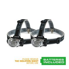 EverBrite 2Pack Headlamp Flashlight for Running Camping Reading Fishing Hunting Walking Jogging  Headlamps Waterproof Long Battery Life Batteries Included Durable Lightweight >>> For more information, visit image link.