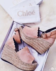One of my most favorite and latest splurges are the Chloe Espadrille Wedges. I love this season's updated version with the scallop detail. Wedge Shoes, Shoes Heels, Pumps, Wedge Sandals, Cute Shoes, Me Too Shoes, Crazy Shoes, Mode Inspiration, Summer Shoes