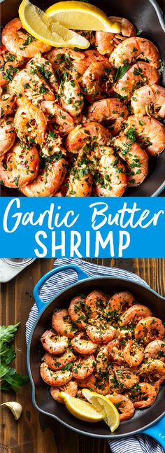 garlic shrimp recipes These Easy Garlic Butter Shrimp are the most delicious shrimp you will ever make! Using Argentinian Red Shrimp, garlic, butter and lemon, this simple recipe Low Carb Shrimp Recipes, Fish Recipes, Pasta Recipes, Healthy Recipes, Seafood Recipes, Simple Shrimp Recipes, Healthy Soup, Garlic Shrimp Recipes, Soup Recipes