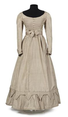 Dress, c. 1840.   This feels more country than city to me and I love that it isn't so frilly.