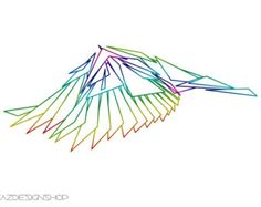 Geometric Wings Art Print, Home Decor, Wall Art Print. Printable high resolution digital file (300 dpi). A great addition to your home or