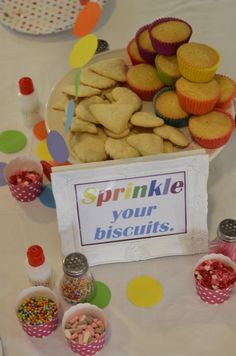 Confetti and Sprinkles Party Cupcake Decorating Party, Cupcake Party, Sprinkle Party, Confetti, Sprinkles, Biscuits, Cookies, Breakfast, Desserts