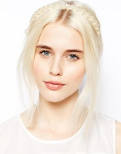 Buy ASOS Faux Pearl Headband at ASOS. Get the latest trends with ASOS now. Fearne Cotton, Asos, Pearl Headband, Tiaras And Crowns, Bandeau, Bridal Headpieces, Bridal Looks, Wedding Trends, Beautiful Eyes