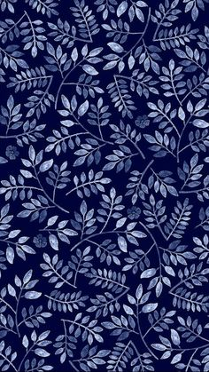 Pattern Play Foliage, by Mahani Del Borrello, for Picturette. Phone Backgrounds, Wallpaper Backgrounds, Wallpaper Art, Pattern Wallpaper Iphone, Mystic Wallpaper, Dark Blue Wallpaper, Leaves Wallpaper, Bedroom Wallpaper, Screen Wallpaper