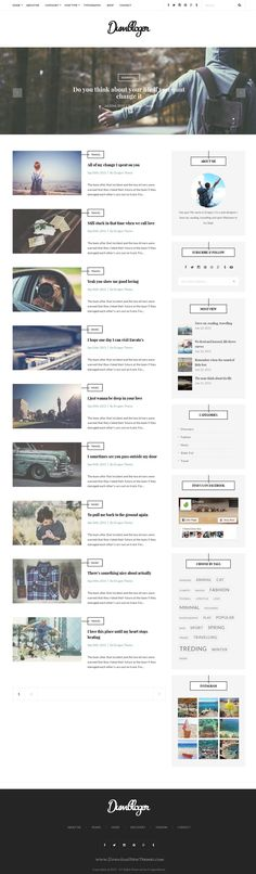 Dumblog is modern and clean design WordPress Theme for personal blogs. #blogging #wptheme Download Now!