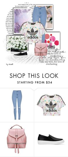 """""""Yoins contest-Backpack"""" by mimoza-dcciv ❤ liked on Polyvore featuring Clinique, Glamorous and adidas Originals"""