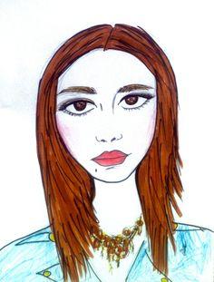#Blue #Art #Face #March #Azul #Arte #Marzo