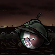 Caporetto by on DeviantArt Hetalia, Funny Tanks, Italian Army, Short Comics, History Memes, Country Art, Fun Comics, Force Of Evil, Cartoon Drawings