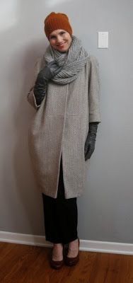 Cocoon Coat made without the frill   No Frills Coat burdastyle pattern