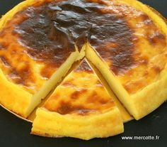 Parisian flan without dough from Ch Michalak – tested and approved ! I recommend it to you (I doubled the proportions) Thermomix Desserts, No Cook Desserts, Delicious Desserts, Chefs, Flan Dessert, Summer Dessert Recipes, Cooking Chef, Sweet Recipes, Tart Recipes