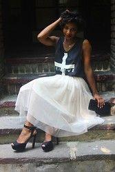 Monroe Steele - Forever 21 Top, H&M Skirt, Zara Shoes - Just a pink tulle skirt