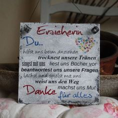"""Decorative objects - Shabby sign """"Kindergarten teacher"""" nursery gift - a designer . Decoration objects – Shabby sign """"Kindergarten teacher"""" kindergarten gift – a unique product by"""