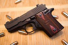 Sig Sauer P938 pistol in Rosewood