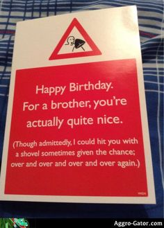 gift gift for brother I turned 19 today, this card w Birthday Present For Brother, Brother Birthday Quotes, Brother Quotes, Birthday Cards For Friends, Happy Birthday Quotes, Funny Birthday Cards, Brother Gifts, Brother Christmas Gifts, Birthday Greetings