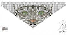 Схемы: Колье косынка (кот)