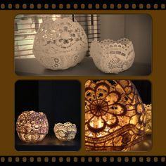 Zelfgemaakte kaarsenhouders :-)