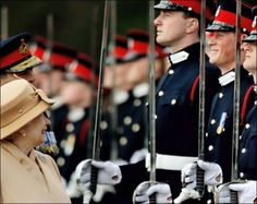 Prince Harry and the Queen. Gah he's so dang cute