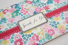 Retro Floral Gift CardMoney or Voucher Holder by aruri on Etsy, $3.50