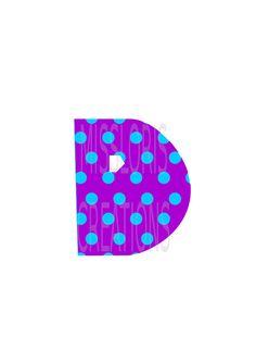 Polka dot Letter D monogram   SVG Cut file by MissLoriscreativecut