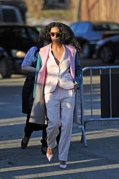 Risky Business: 11 Unboring Ways to Wear a Spring Suit for Work - Solange Knowles suit