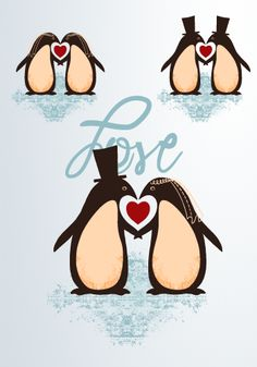 In honor of valentine's day - penguin love @Nichole Radman Radman Radman Radman Bouwman