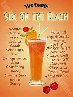 Details about Sex On The Beach Cocktail Recipe, Cafe Pub Hotel, Wine Bar, Small Metal Tin Sign - Drinks Sex On The Beach Cocktail Recipe, Sex On The Beach Recipe, Mixed Drinks Alcohol, Alcohol Drink Recipes, Party Drinks Alcohol, Mixed Drink Recipes, Frozen Mixed Drinks, Summer Mixed Drinks, Fruity Mixed Drinks