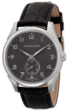 Hamilton Mens H38411783 Jazzmaster Thinline Grey Dial Watch -- Find out more about the great product at the image link.