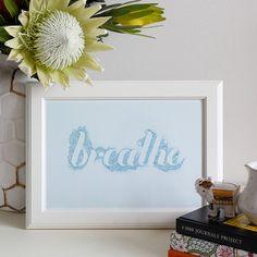 Breathe Yoga Meditation Inspirational Mantra por BrendaMangaloreArt