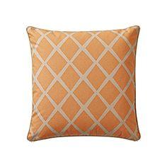 Saffron/Putty Diamond Throw Pillow | Serena & Lily