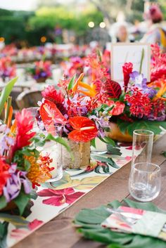 Be bold + bright on your wedding day by adding colorful hues to your decor.