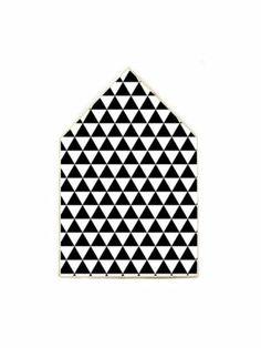 "Houtprint huis XL ""grafisch"" #home #black #white #graphic #myhomeshopping"
