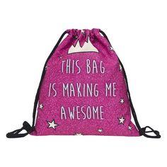 52ebfc1546 3D Fashion Printed Emoji Unisex Backpacks Travel Softback Women Men  Mochilas Feminina Harajuku Drawstring Bag