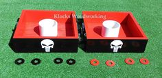 Any Theme - Any Colors - Washer Toss Board Game - Outdoor Wedding Reception or Tailgate Toss Game - Handmade  by Sportygrl44, $64.99