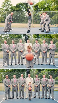 In honor of March Madness, groomsmen and basketball!