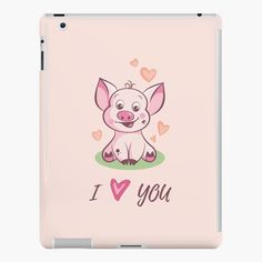 'I Love You Cute Baby Piggy' iPad Case/Skin by duyvolap Love You Cute, My Love, Lip Designs, Ipad Case, Cute Babies, My Arts, Product Launch, Art Prints