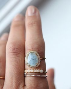 The Aquamarine slice ring is here! #packyourjewels