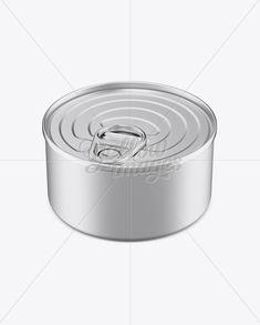 Tin Can w/ Metal Rim & Pull Tab Mockup