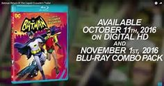 """Animated Batman! - The 1960's Batman Adam West & his sidekick Burt Ward as Robin, will again embody their iconic roles of Batman and Robin in the animated film """"Batman: Return of the Caped Crusaders.A trailer posted Wednesday on Entertainment Weekly's site featured West's Batman announcing that the dynamic duo will face the """"Joker, Riddler, Penguin and Catwoman  on earth and in space.""""  Julie Newmar will also be there. She played Catwoman in the live-action series. - Bing images"""