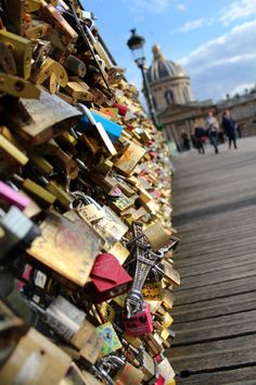 When my daughter Rylee and I go to France we are so going to see this! Love Locks in Paris, France Best Vacation Destinations, Vacation Spots, Paris Amor, 100 Things To Do, Love Lock, I Love Paris, France, Trip Planning, Places To See