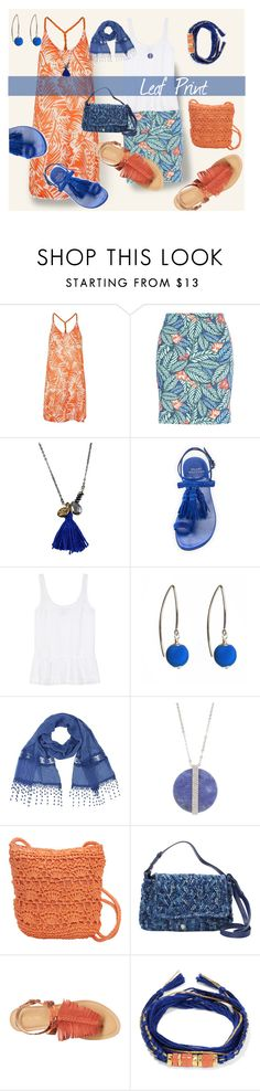 """""""Leaf print"""" by kelli-bailey-ouimet ❤ liked on Polyvore featuring Topshop, New Look, First People First, Stuart Weitzman, J Brand, Dorus Mhor, Swarovski, Magid, Helen Kaminski and GUESS"""